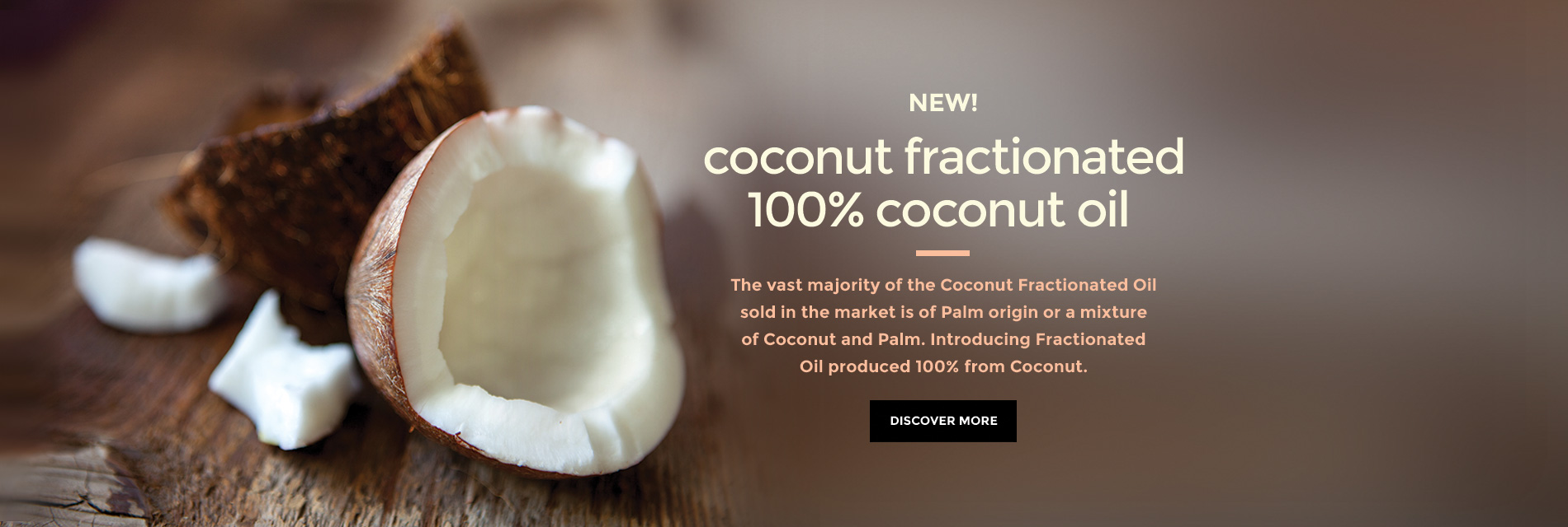 Coconut Fractionated 100% Coconut Oil