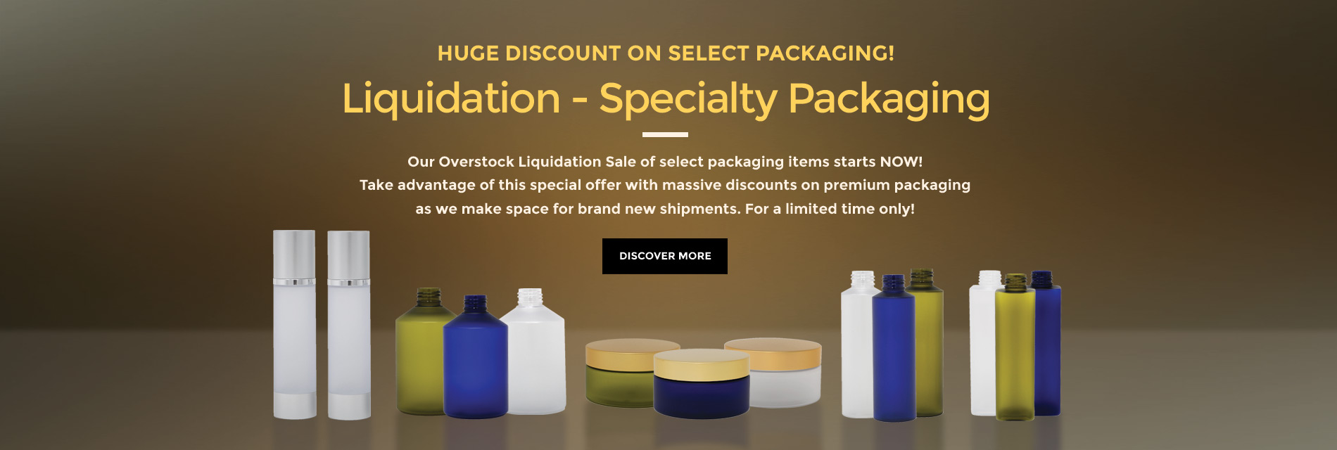 Liquidation Sale on Select Premium Packaging Items