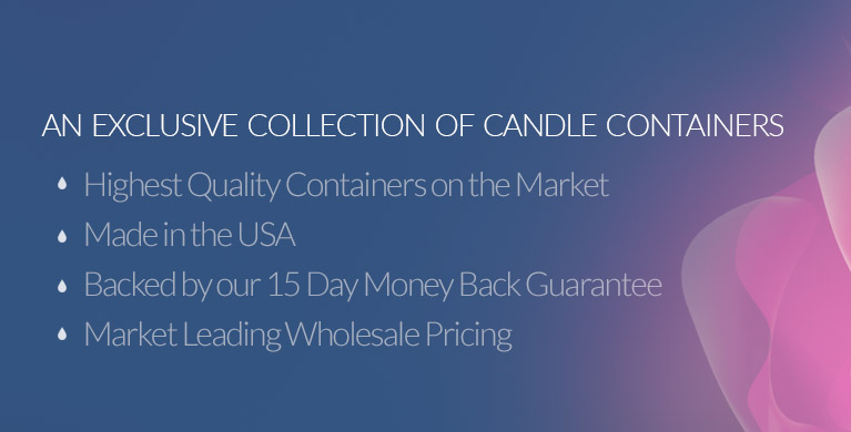 Glass Candle Containers and Candle Jars at Wholesale Prices