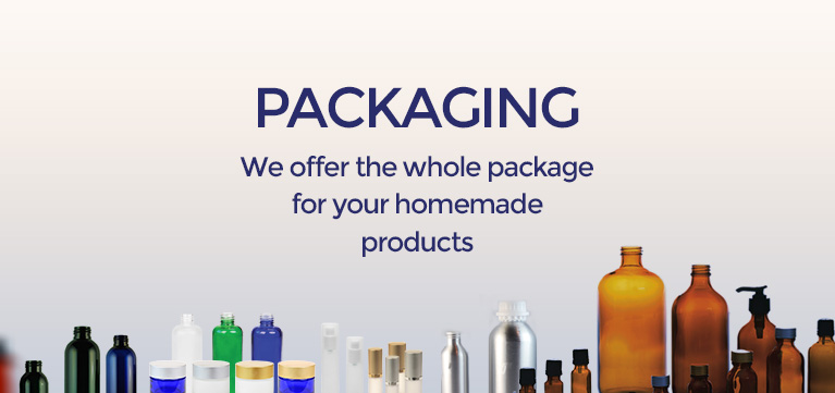 Packaging We offer the whole package for your homemade products