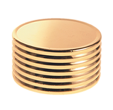 20 mm Cap Gold Matte Ring Groove