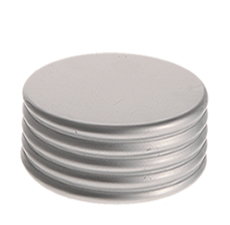24 mm Cap Silver Matte Ring Groove