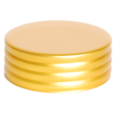36 mm Cap Gold Matte Ring Groove