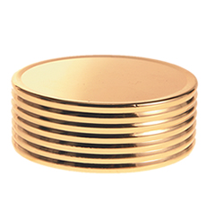 50 mm Cap Gold Matte Ring Groove