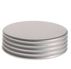 50 mm Cap Silver Matte Ring Groove