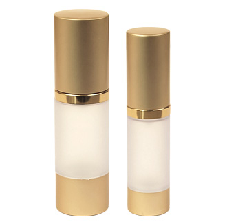 Airless Dispenser Refillable (Frosted with Gold Matte Cap)
