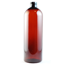 Cosmo Round Amber PET Plastic Bottle