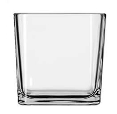 Cube Glass Candle Container