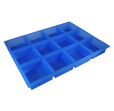 Square Silicone (12 Cavities) Soap Mold