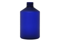 Stylus Boston Round Blue Frosted PET Bottle